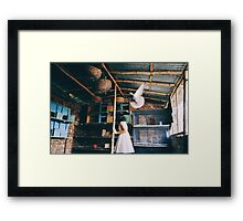her birds Framed Print