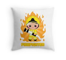 Cute FireFighter OY Throw Pillow