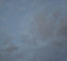Dark Blue Sky And White Clouds Against Night Sky 1 by Robbie Patterson