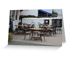 Empty Tables,Empty Chairs Greeting Card