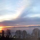 Winter Sunset from Fife to Edinburgh  by Sara-Jane  Keeley