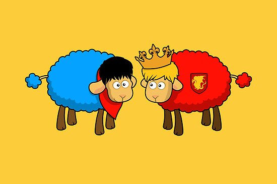 Merlin and Arthur Sheep Edition by sirwatson