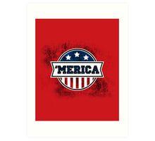 'MERICA T-Shirt. America. Jesus. Freedom. - The Campaign Art Print