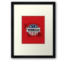 'MERICA T-Shirt. America. Jesus. Freedom. - The Campaign Framed Print