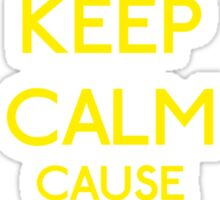 Keep Calm cause I'm a Princess (Yellow) Sticker