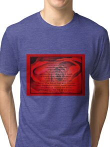 A Beating Heart Lay Resting - Greeting Card Tri-blend T-Shirt