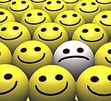 Sad smiley by Norma Cornes
