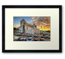 Sunset At Victory Monument Framed Print