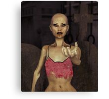 Zombie Seductress Canvas Print