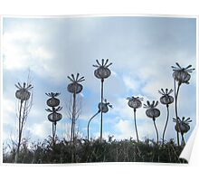Steel Thistles sculpture Poster
