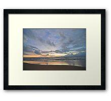 Sunset at Bentota Beach, Sri Lanka Framed Print