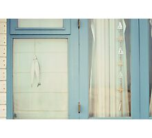 Beach Hut window. Photographic Print
