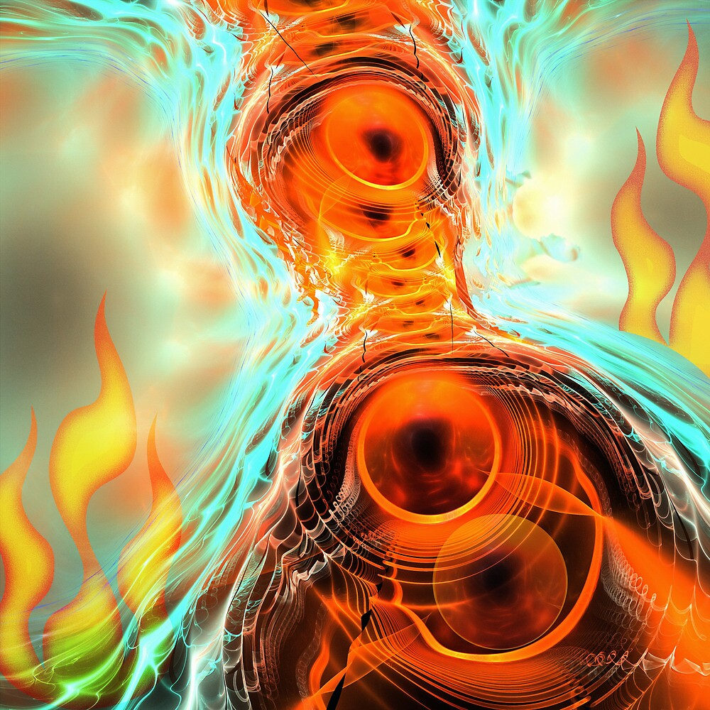 The Fire Ghost, abstract fractal artwork by walstraasart
