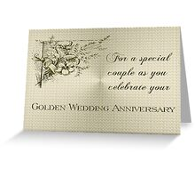 Golden Wedding Anniversary Card Greeting Card