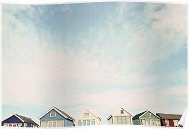 Beach Hut Sky ♥ by Gisele  Morgan