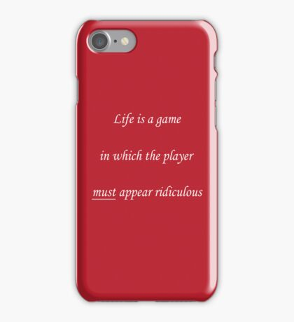 Life is a game... iPhone Case/Skin