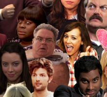 Parks and Recreation Collage Sticker