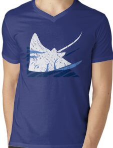Blue Stingrays Mens V-Neck T-Shirt