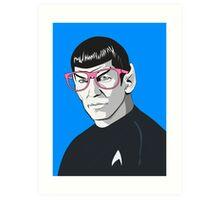 Pop Art Spock Star Trek  Art Print