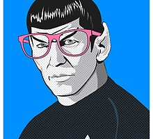 Pop Art Spock Star Trek  by Creative Spectator