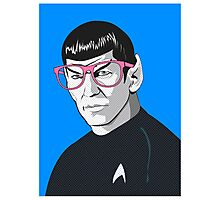 Pop Art Spock Star Trek  Photographic Print