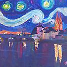 starry night at Regensburg by artshop77
