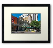Rundle Mall - Old and New buildings  Framed Print