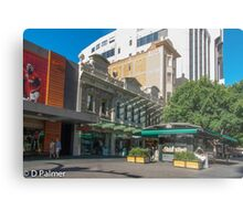 Rundle Mall - Old and New buildings  Metal Print