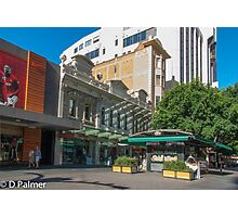 Rundle Mall - Old and New buildings  Photographic Print