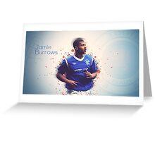 Jamie Burrows Player Design Greeting Card