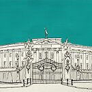 Buckingham Palace ( Teal ) by Adam Regester