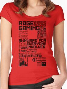 Rage Medley - Black Women's Fitted Scoop T-Shirt