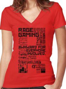 Rage Medley - Black Women's Fitted V-Neck T-Shirt