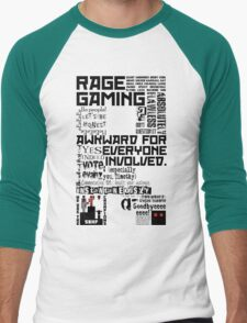 Rage Medley - Black Men's Baseball ¾ T-Shirt