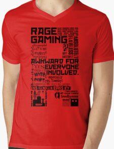 Rage Medley - Black Mens V-Neck T-Shirt