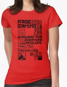 Rage Medley - Black Womens Fitted T-Shirt