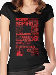 Rage Medley - Red Women's Fitted Scoop T-Shirt