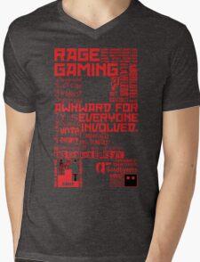 Rage Medley - Red Mens V-Neck T-Shirt