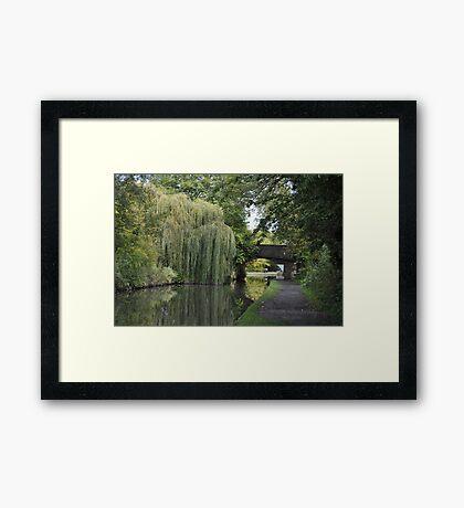 Green Canal Landscape Framed Print