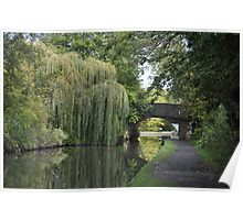 Green Canal Landscape Poster