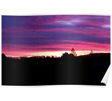 Sunset over Inverleith Park Edinburgh  Poster
