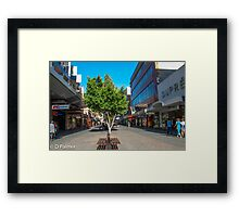 Rundle Mall - Down the Centre  Framed Print
