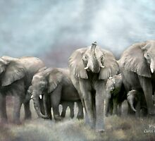 Africa - Wild Family by Carol  Cavalaris