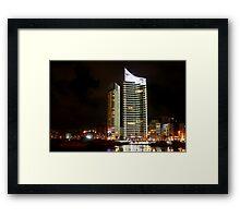 Night shot 05 - Beirut - Zaytouni Bay  Framed Print
