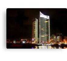 Night shot 05 - Beirut - Zaytouni Bay  Canvas Print