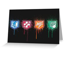 Zombies Perks Greeting Card
