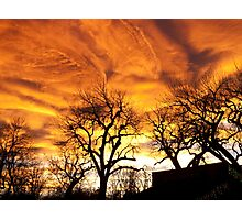 Blazing Sky Photographic Print
