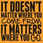 It Doesn't Matter Where You Come From It Matters Where You Go - Frank Turner Lyric T-Shirt by robbclarke
