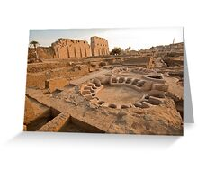 Dig Outside Temple of Amun re Egypt Greeting Card
