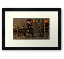 Halloween - The Life of a Witch Framed Print